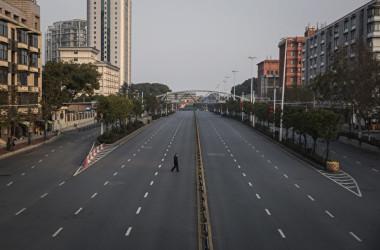 武漢市は1月下旬、都市封鎖措置を実施した(Getty Images)