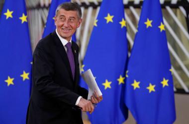 チェコのアンドレイ・バビシュ首相(KENZO TRIBOUILLARD/AFP via Getty Images)