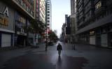 武漢ではまた感染が広がっている。2020年3月、武漢市内で撮影(GettyImages)