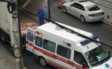 武漢市青山区では、生の豚肉が救急車で運ばれている(武漢市ネットユーザ)