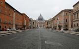 2020年3月13日、個人の移動規制などが発動された後のイタリアの街(Marco Di Lauro/Getty Images)