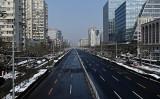 2020年2月7日、中共肺炎の影響で人の姿が消えた北京市内(AFP/Getty Images)