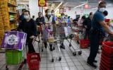 台米、防疫パートナーシップ共同声明を発表した。台北のスーパーマーケットの模様(GettyImages)