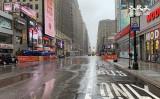 中共肺炎(新型コロナウイルスによる肺炎)のまん延によって人が消えたニューヨーク市マンハッタン34番街(林丹/大紀元)