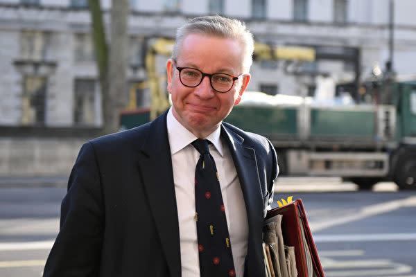 英国のマイケル・ゴーブ内閣府担当大臣(Chris J Ratcliffe/Getty Images)