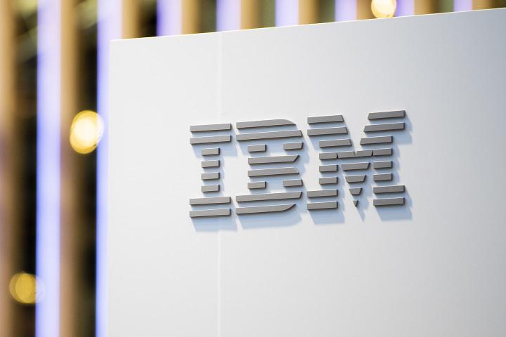 米IBM社のロゴ (David Ramos/Getty Images)