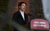 3月29日、ウイルス肺炎の状況について説明するため、オタワで記者会見を開く加トルドー首相(Getty Images)