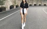 「中国の女の子みたいだね」と恋人のブライトさんが書き込むと、「台湾のスタイルよ」とnnevvyことスカラムさんは返事した(スクリーンショット)
