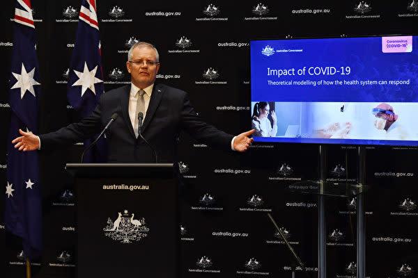 豪州のモリソン首相は4月21日、中共肺炎(新型コロナウイルス感染症)をめぐる中国当局の初動対応について独立調査が必要だと発言したマリス・ペイン外相に賛同する姿勢を示した(Getty Images)
