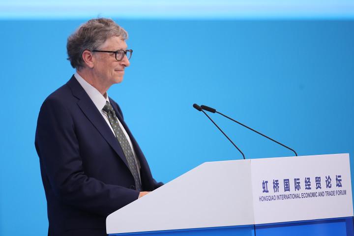 2018年11月、上海で国際経済と貿易フォーラムに参加するビル・ゲイツ氏。(Lintao Zhang/Getty Images)