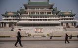 北朝鮮・ピョンヤンにある金日成広場(KIM WON JIN/AFP via Getty Images)