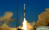 5月12日、甘粛省の衛星発射センターから打ち上げられた、衛星打ち上げロケット「快舟1A」(GettyImages)