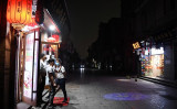 中国北京市では5月21日午後3時ごろ、全国政治協商会議の開幕とともに上空が急に暗くなった(GREG BAKER/AFP via Getty Images)