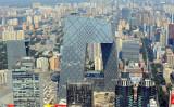 北京市にあるCGTNの親会社、中国国営CCTV本部ビル(GOH CHAI HIN/AFP/Getty Images)