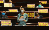 5月27日、香港立法会の本会議に出席した民主派の陳淑荘議員(宋碧龍/大紀元)