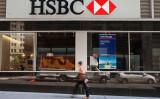 英金融大手HSBCホールディングス。参考写真(Andrew Burton/Getty Images)