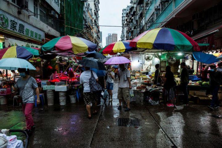 2020年6月6日、香港の市場の様子、参考写真(GettyImages)