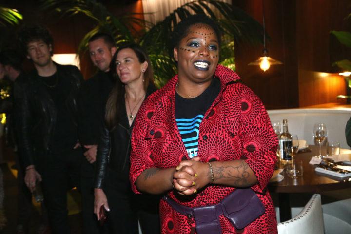 2020年2月、ウエスト・ハリウッドのイベントに参加した、人種差別撤廃運動「黒人の命を大切に(Black Lives Matter、BLM)」グローバルネットワークの共同創設者であるパトリッセ・カラーズ(Patrisse Cullors)氏(GettyImages)