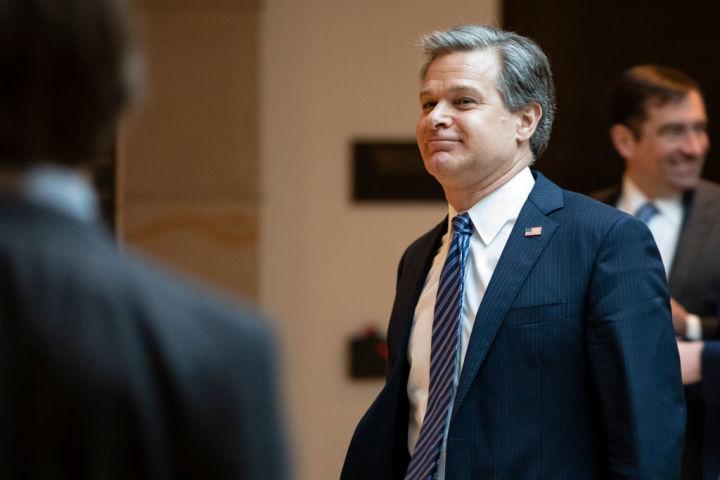 米連邦捜査局(FBI)クリストファー・レイ長官は7月7日、ハドソン研究所で演説し、米国の長期的な脅威は中国だと名指して批判した(GettyImages)