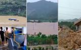 中国湖南省岳陽市では7月8日、記録的な豪雨に見舞われた(スクリーンショット)