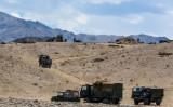 7月7日、ラダック地域を走るインド軍の車両(GettyImages)