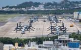 沖縄に配備されている輸送機オスプレイ(GettyImages)