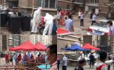 核酸検査を受ける北京天通苑の住民(大紀元)