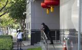 在米中国領事館の周辺(GettyImages)