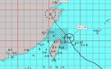 台風4号(Hagupit)は8月3日、中国浙江省南部に上陸する恐れがある(台湾中央気象局より)