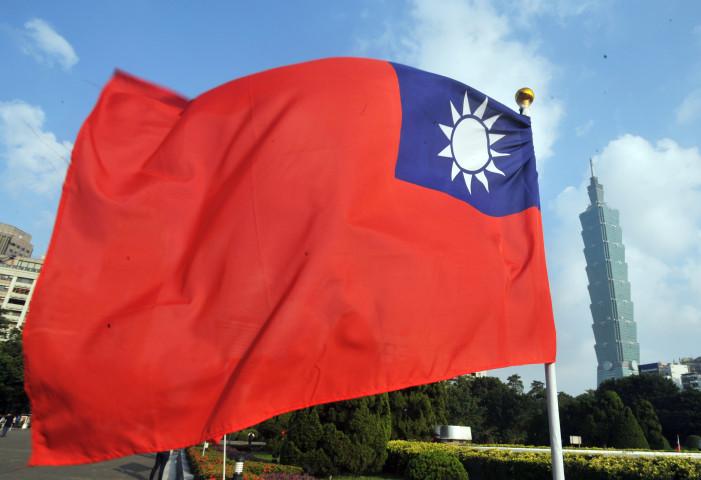 台湾の国旗(MANDY CHENG/AFP via Getty Images)