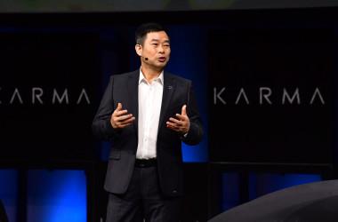中国万向集団傘下電気自動車メーカー「カルマ社」は最近、米カリフォルニア州裁判所に盗作の罪で提訴された。写真は万向集団本社周亮CEO(CEOFREDERIC J. BROWN/AFP via Getty Images)