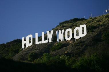 カリフォルニア州ロサンゼルスにある、米映画界の代名詞であるハリウッドのロゴ(GettyImages)