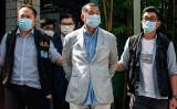 10日、突然逮捕された香港民主紙の創業者、黎智英(ジミー・ライ)氏(VERNON YUEN/AFP via Getty Images)