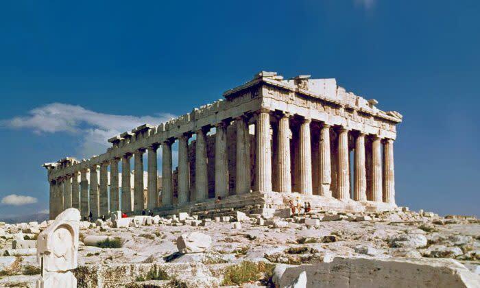 パルテノン神殿、1978年ギリシャ・アテネにて (CC BY 2.0)