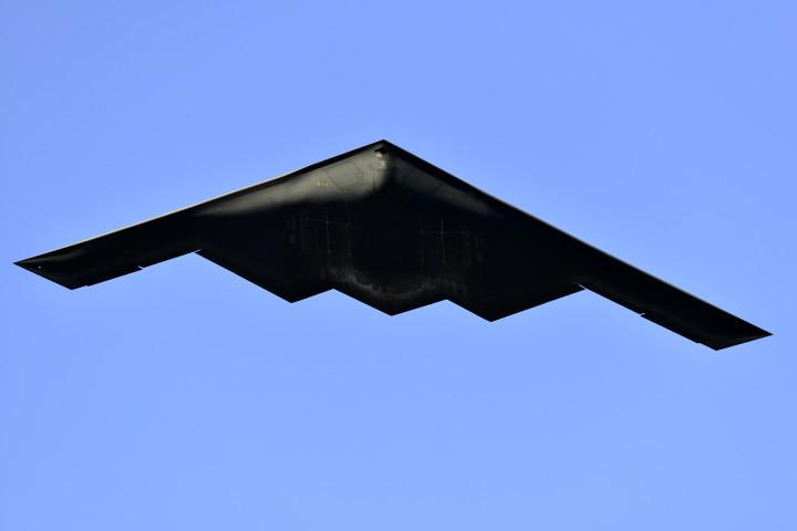 米空軍の「B-2ステルス爆撃機」(Jerod Harris/Getty Images)