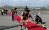 太平洋の島国パプアニューギニアは、ワクチン接種を受けた48人の中国国有企業の従業員を乗せた飛行機の入国を拒否した(GettyImages)