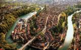 ベルンを蛇行するアーレ川 (Terence du Fresne/swiss-image.ch)
