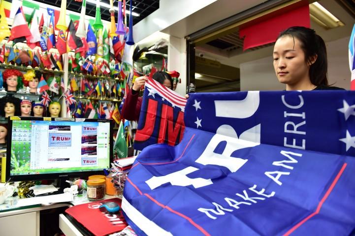 中国の義烏卸売市場は世界中へ小物商品を供給しており、多くの米大統領選挙の宣伝グッズなどもここから来ている(Getty Images)