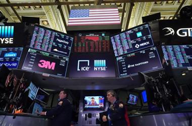 2020年3月18日、米ニューヨーク証券取引所(AFP/Getty Images)