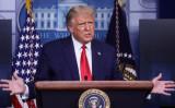 2020年9月16日、ホワイトハウスの会見で記者団に話すドナルド・トランプ大統領 (Reuters/Leah Millis/File Photo)