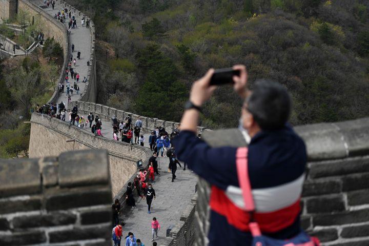 万里の長城。(WANG ZHAO/AFP via Getty Images)