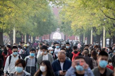 10月8日、北京の紫禁城を歩く人々(GettyImages)