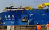 中国の砂取船、イメージ写真(VCG/VCG via Getty Image)