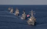 日米軍事演習キーンソード21に参加する日米の艦船(Petty Officer 2nd Class Erica Bechard/Navy.mil)