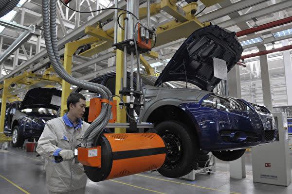 中国遼寧省瀋陽市にある国営自動車メーカー、華晨汽車集団の工場(Getty Images)