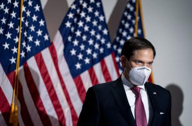 マルコ・ルビオ米上院議員は、米当局が作成した取引禁止リストに載る中国企業を上場廃止させる法案を提出した。写真はルビオ議員(GettyImages)