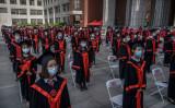 2020年6月、名門の中国人民大学で卒業式が行われた(GettyImages)