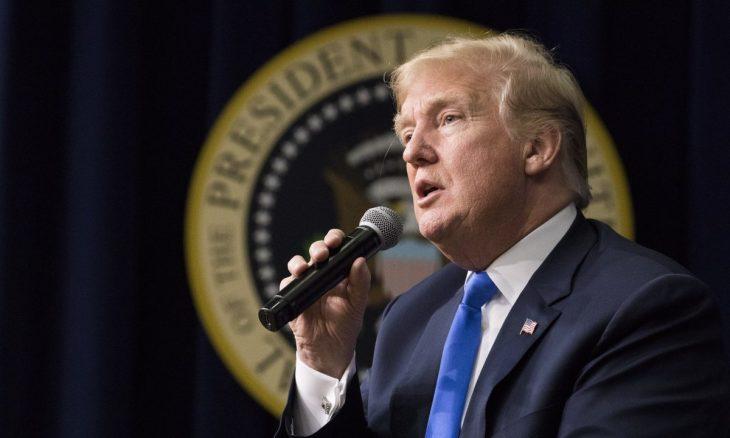 米トランプ大統領は2018年3月22日、ワシントンのアイゼンハワー行政府ビルのサウスコート講堂で行われたフォーラム「ザ・ジェネレーション・ネクスト(Generation Next)」で講演した(Samira Bouaou/The Epoch Times)