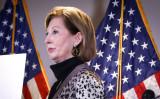 ワシントンの共和党全国委員会本部で記者会見を行うシドニー・パウエル氏=2020年11月19日(Charlotte Cuthbertson/The Epoch Times)