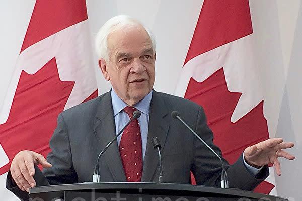 カナダのジョン・マッカラム前駐中国大使(周月諦/大紀元)